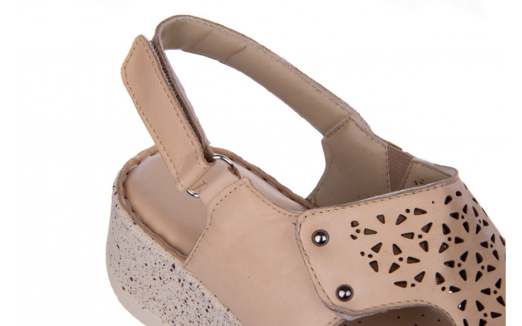 Sandały bayla-161 016 966 beige 161195, beż, skóra naturalna 7