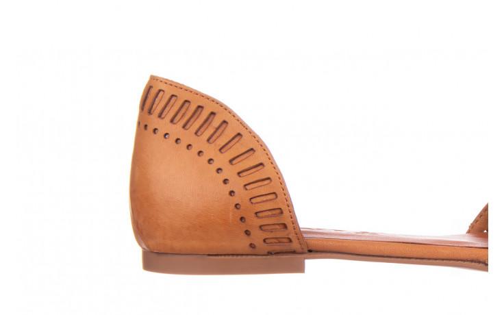 Baleriny bayla-161 138 1102 coconut 161216, brąz, skóra naturalna  - skórzane - baleriny - buty damskie - kobieta 5
