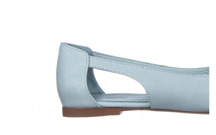 Baleriny bayla-161 138 1560 fresh 161220, niebieski, skóra naturalna - skórzane - baleriny - buty damskie - kobieta 6