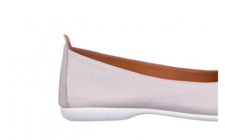 Baleriny bayla-161 059 f007 34 silver grey 161230, beż, skóra naturalna  - skórzane - baleriny - buty damskie - kobieta 7