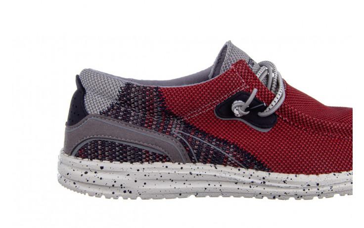 Półbuty heydude wally hawk lava grey 003200, czerwony, materiał - trendy - mężczyzna 6