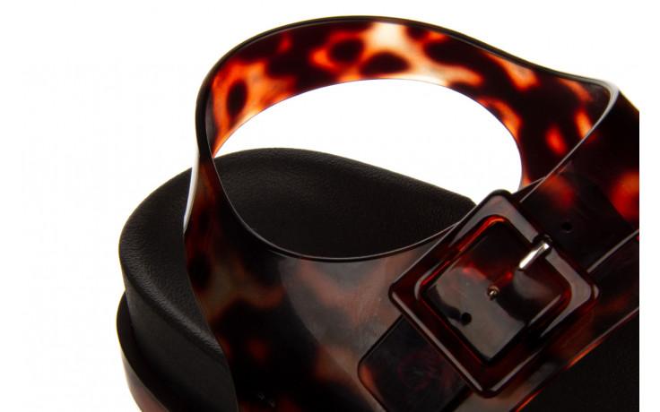 Sandały melissa wide platform ad black turtoise 010362, czarny/ brąz, guma - nowości 7