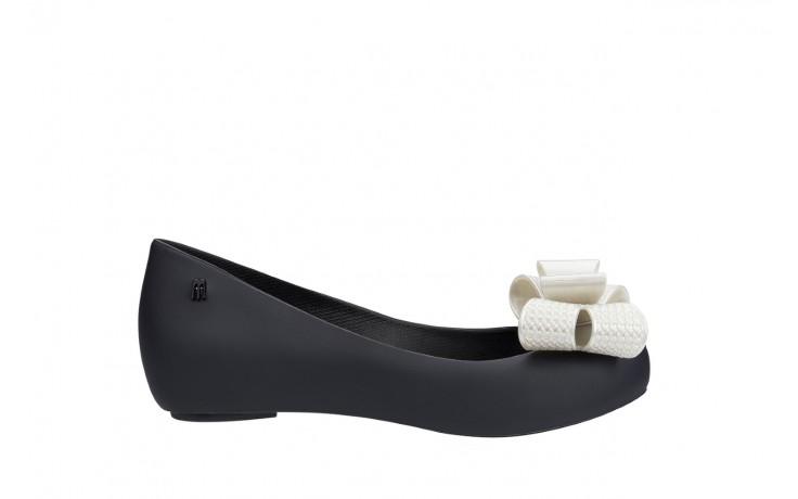Baleriny melissa ultragirl sweet xv ad black white metalized, czarny/biały, guma - melissa - nasze marki