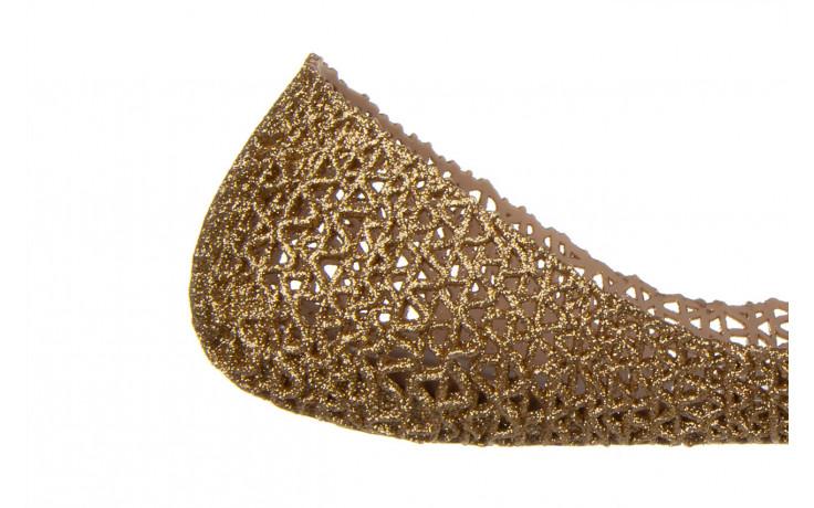 Baleriny melissa campana papel vii ad beige glitter 21 010364, złoty, guma - baleriny - melissa - nasze marki 6