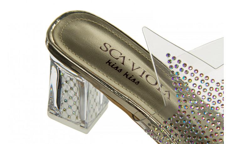 Klapki sca'viola g-59 gold 047189, złoty, silikon - klapki - buty damskie - kobieta 7