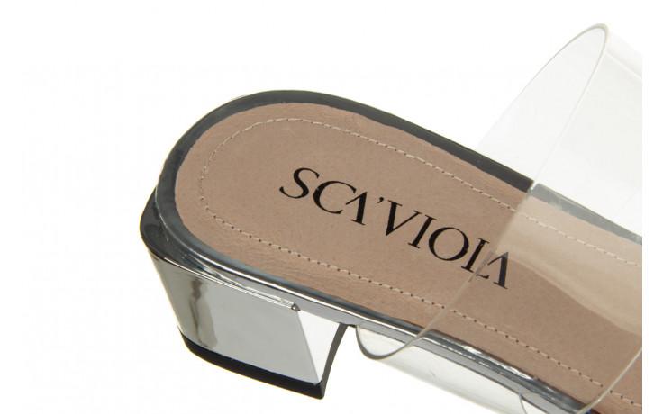 Klapki sca'viola b-205 silver 047180, srebro, silikon - klapki - buty damskie - kobieta 6