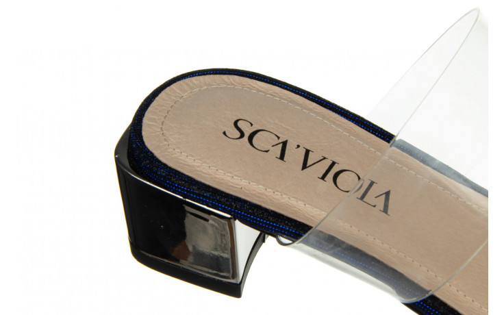 Klapki sca'viola b-204 d blue 047179, granat, silikon  - klapki - buty damskie - kobieta 7