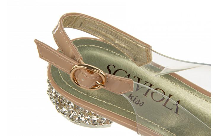 Sandały sca'viola g-15 l pink 21 047182, róż, silikon - na obcasie - sandały - buty damskie - kobieta 8