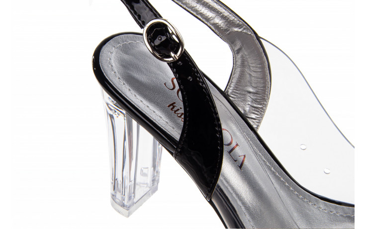 Sandały sca'viola g-17 black 21 047184, czarny, silikon  - na obcasie - sandały - buty damskie - kobieta 7