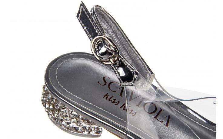 Sandały sca'viola g-15 silver 21 047183, srebro, silikon  - na obcasie - sandały - buty damskie - kobieta 8
