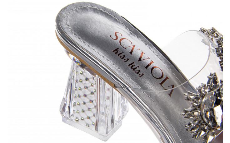 Klapki sca'viola g-58 silver 047188, srebro, silikon  - klapki - buty damskie - kobieta 8