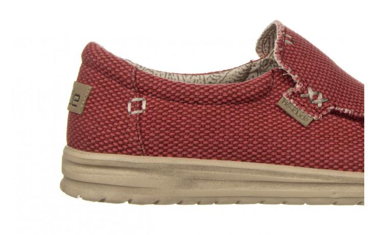 Półbuty heydude mikka braided pompeian red 003215, czerwony, materiał  - nowości 7
