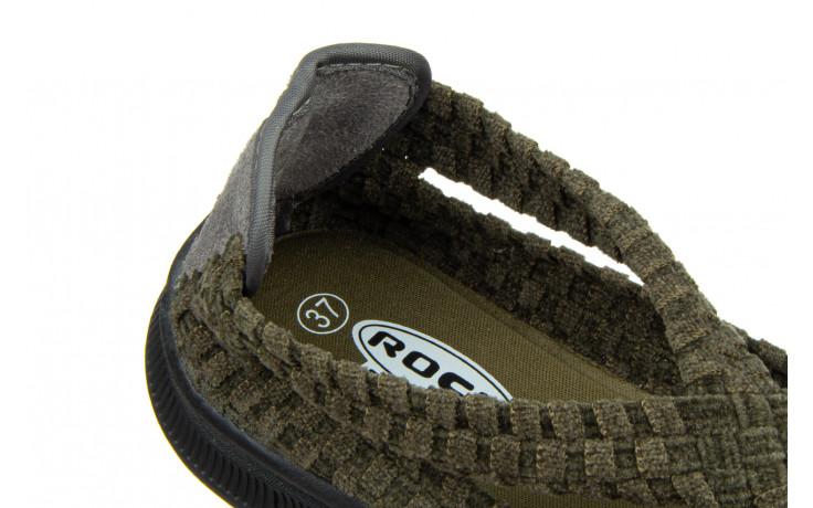 Półbuty rock berta moss cashmere 032815, zielony, materiał - dla niej  - sale 7