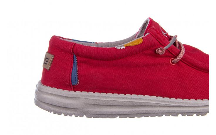Półbuty heydude wally washed molten lava 003208, czerwony, materiał - trendy - mężczyzna 6