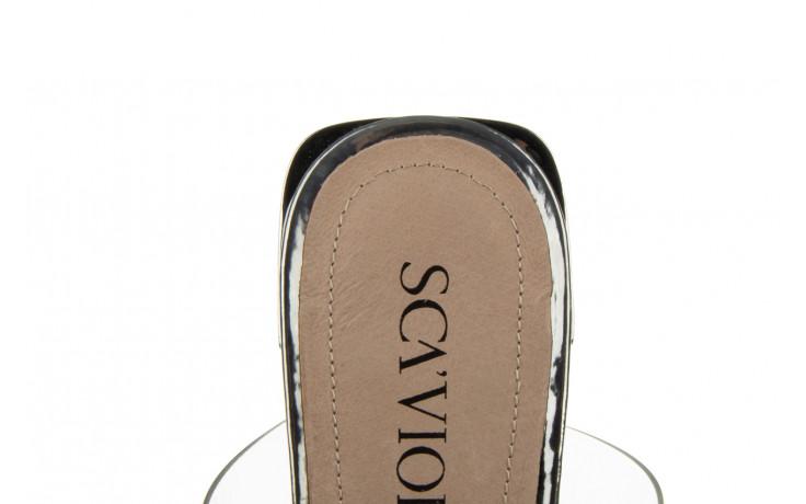 Klapki sca'viola b-205 silver 047180, srebro, silikon - klapki - buty damskie - kobieta 8
