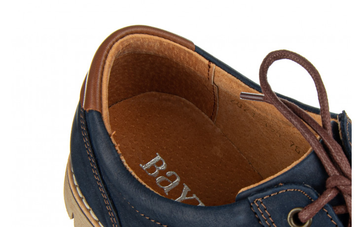 Półbuty bayla-081 761 juma blue ax 081079, granat, skóra naturalna  - nowości 6