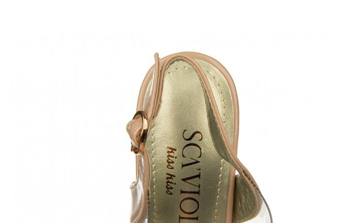 Sandały sca'viola g-15 l pink 21 047182, róż, silikon - na obcasie - sandały - buty damskie - kobieta 7