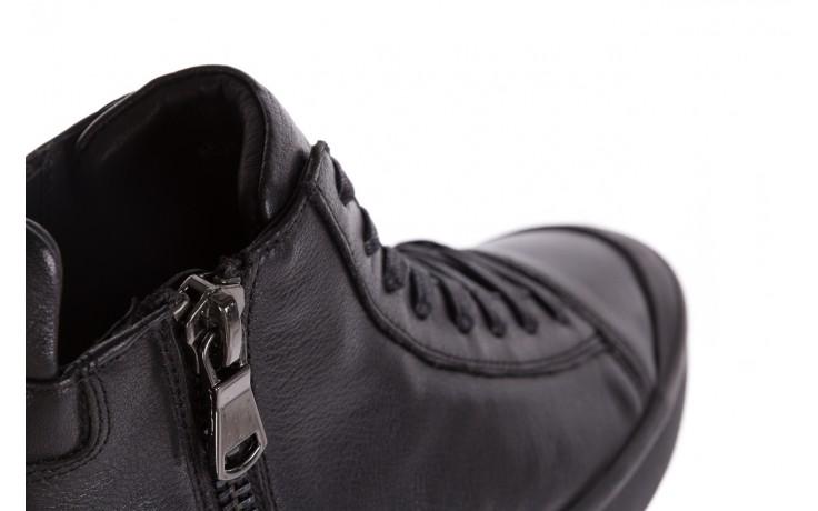 Sneakersy john doubare m5761-1 black, czarny , skóra naturalna  - trendy - mężczyzna 8