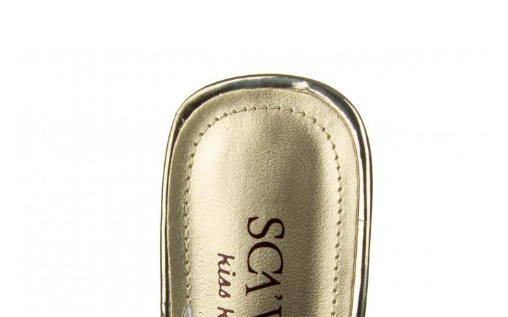 Klapki sca'viola g-59 gold 047189, złoty, silikon - klapki - buty damskie - kobieta 8