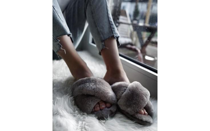 Klapki emu mayberry dove grey, futro naturalne - emu - nasze marki 2