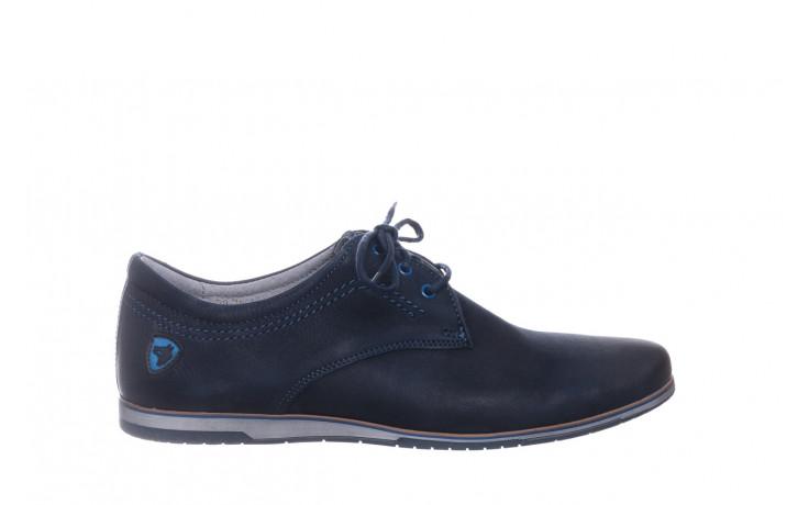 Półbuty bayla-081 877 juma blue, granat, skóra naturalna - buty męskie - mężczyzna