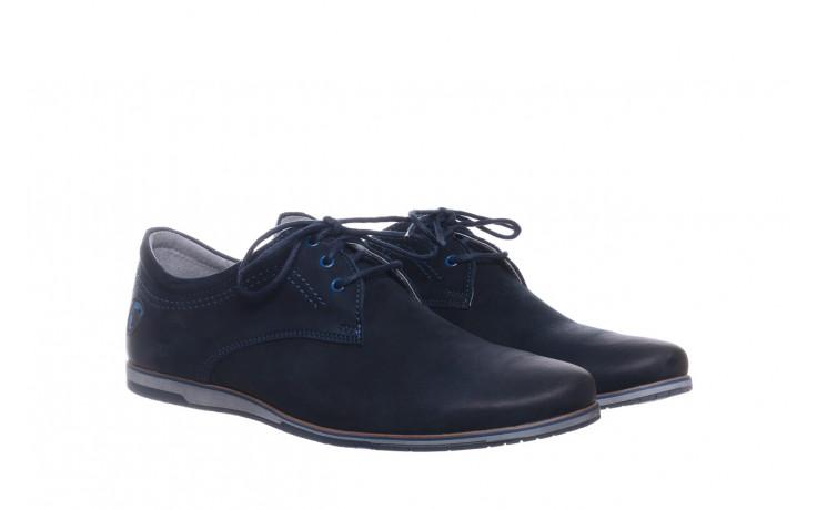 Półbuty bayla-081 877 juma blue, granat, skóra naturalna - buty męskie - mężczyzna 1