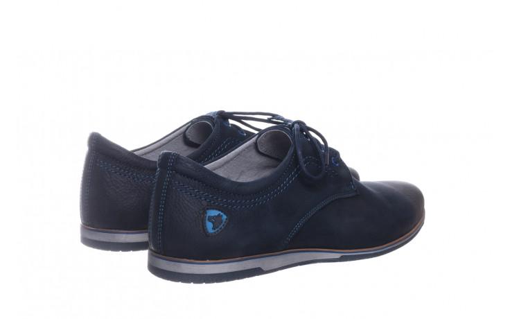 Półbuty bayla-081 877 juma blue, granat, skóra naturalna - buty męskie - mężczyzna 3