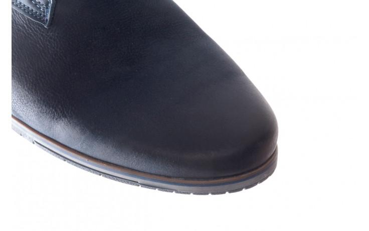 Półbuty bayla-081 877 juma blue, granat, skóra naturalna - buty męskie - mężczyzna 5