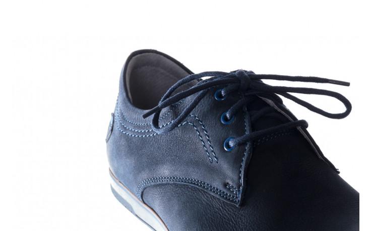 Półbuty bayla-081 877 juma blue, granat, skóra naturalna - buty męskie - mężczyzna 6