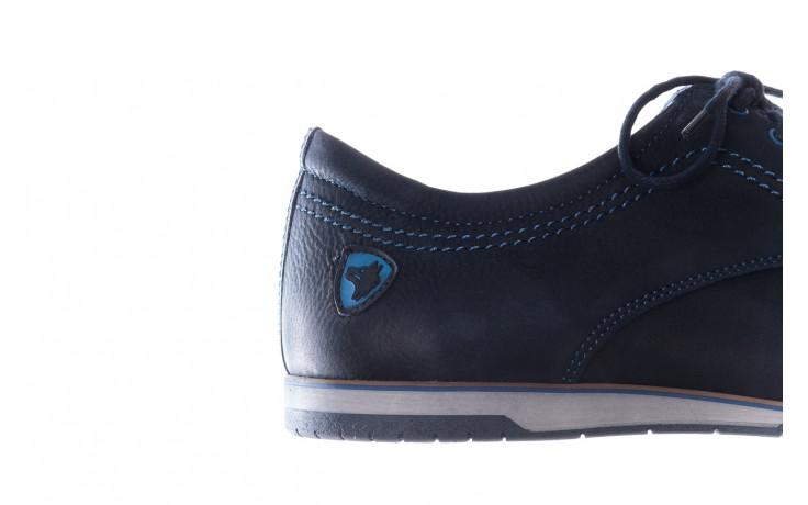 Półbuty bayla-081 877 juma blue, granat, skóra naturalna - buty męskie - mężczyzna 7