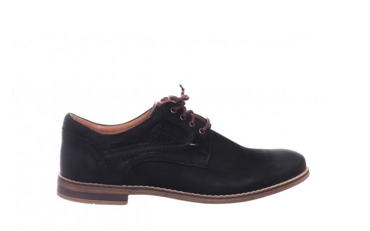 Półbuty bayla-081 831 juma czarna ax, czarny, skóra naturalna - buty męskie - mężczyzna