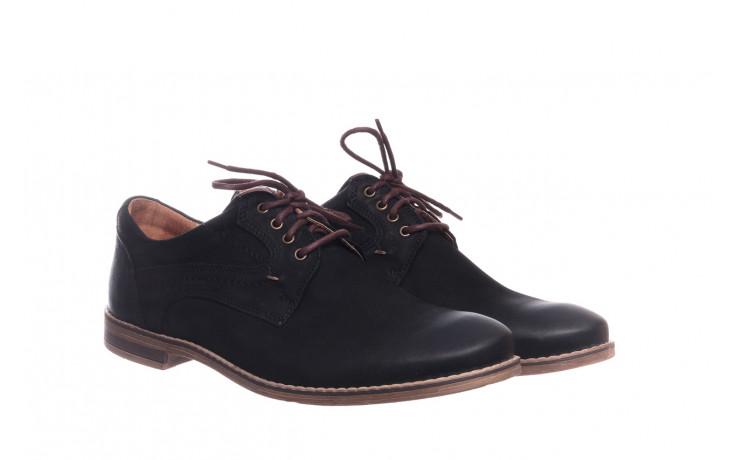 Półbuty bayla-081 831 juma czarna ax, czarny, skóra naturalna - buty męskie - mężczyzna 1