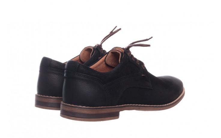 Półbuty bayla-081 831 juma czarna ax, czarny, skóra naturalna - buty męskie - mężczyzna 3