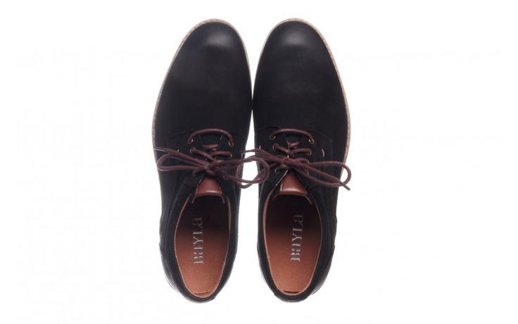 Półbuty bayla-081 831 juma czarna ax, czarny, skóra naturalna - buty męskie - mężczyzna 4