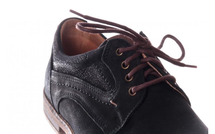 Półbuty bayla-081 831 juma czarna ax, czarny, skóra naturalna - buty męskie - mężczyzna 5