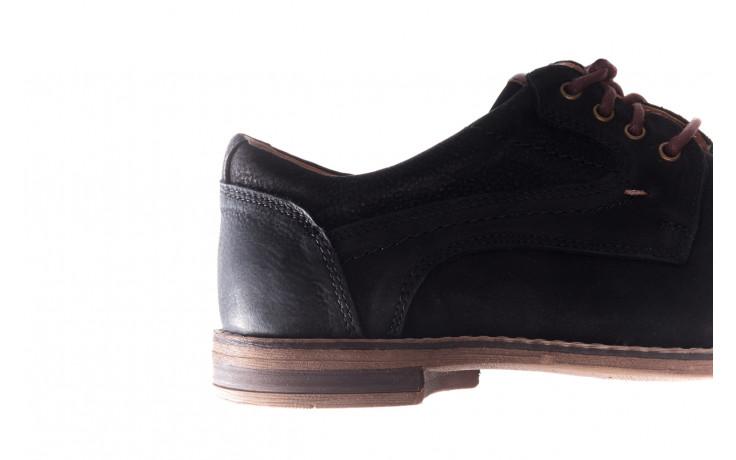 Półbuty bayla-081 831 juma czarna ax, czarny, skóra naturalna - buty męskie - mężczyzna 7
