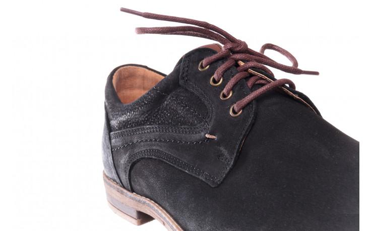 Półbuty bayla-081 831 juma czarna ax, czarny, skóra naturalna - buty męskie - mężczyzna 6