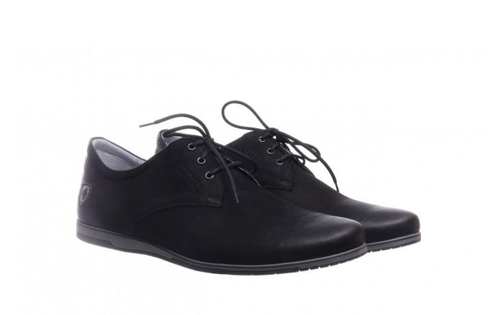 Półbuty bayla-081 877 juma czarna, czarny, skóra naturalna - buty męskie - mężczyzna 1
