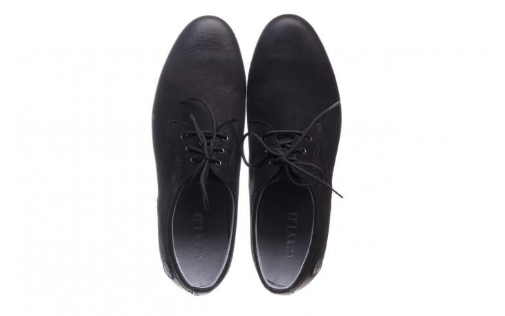 Półbuty bayla-081 877 juma czarna, czarny, skóra naturalna - buty męskie - mężczyzna 4