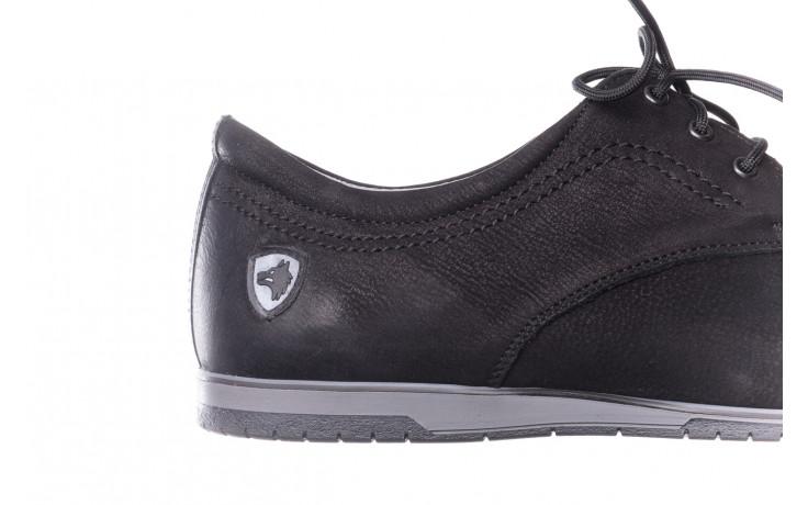 Półbuty bayla-081 877 juma czarna, czarny, skóra naturalna - buty męskie - mężczyzna 6