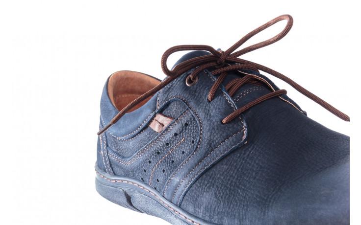 Półbuty bayla-081 870 juma blue ax, granat, skóra naturalna - trendy - mężczyzna 5