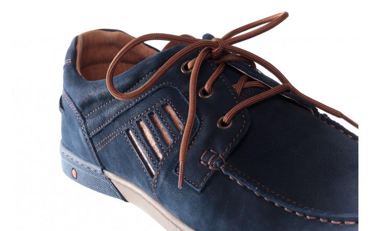 Półbuty bayla-081 908 juma blue ax, granat, skóra naturalna - trendy - mężczyzna 6
