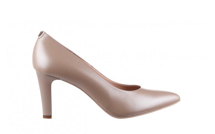 Czółenka bayla-056 7060-1461 beż perła 056516, skóra naturalna  - na słupku - czółenka - buty damskie - kobieta