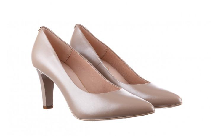 Czółenka bayla-056 7060-1461 beż perła 056516, skóra naturalna  - na słupku - czółenka - buty damskie - kobieta 1