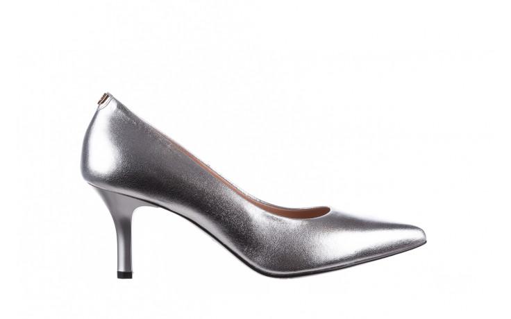 Czółenka bayla-056 9117-1103 srebrny 056518, skóra naturalna  - skórzane - czółenka - buty damskie - kobieta