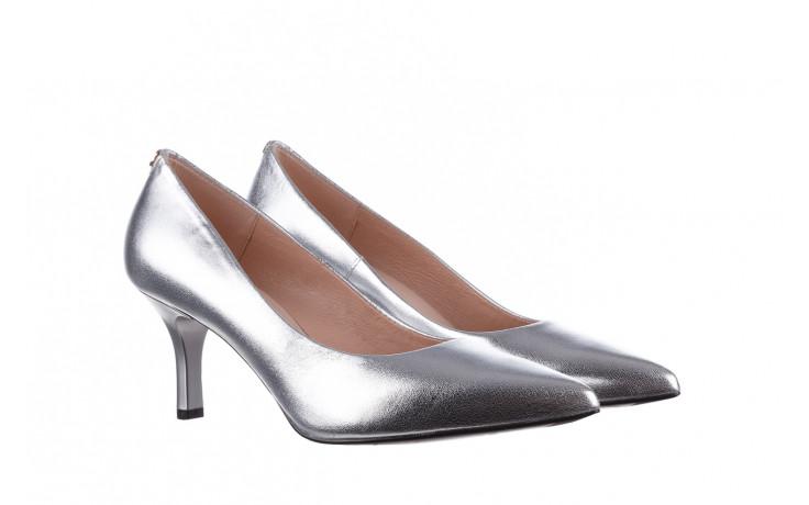 Czółenka bayla-056 9117-1103 srebrny 056518, skóra naturalna  - skórzane - czółenka - buty damskie - kobieta 1