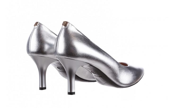 Czółenka bayla-056 9117-1103 srebrny 056518, skóra naturalna  - skórzane - czółenka - buty damskie - kobieta 4