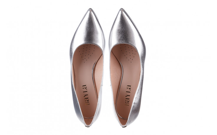 Czółenka bayla-056 9117-1103 srebrny 056518, skóra naturalna  - skórzane - czółenka - buty damskie - kobieta 5