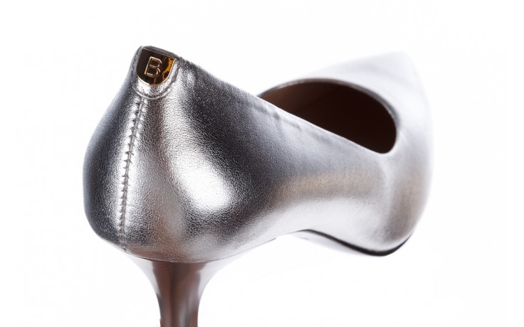 Czółenka bayla-056 9117-1103 srebrny 056518, skóra naturalna  - skórzane - czółenka - buty damskie - kobieta 6