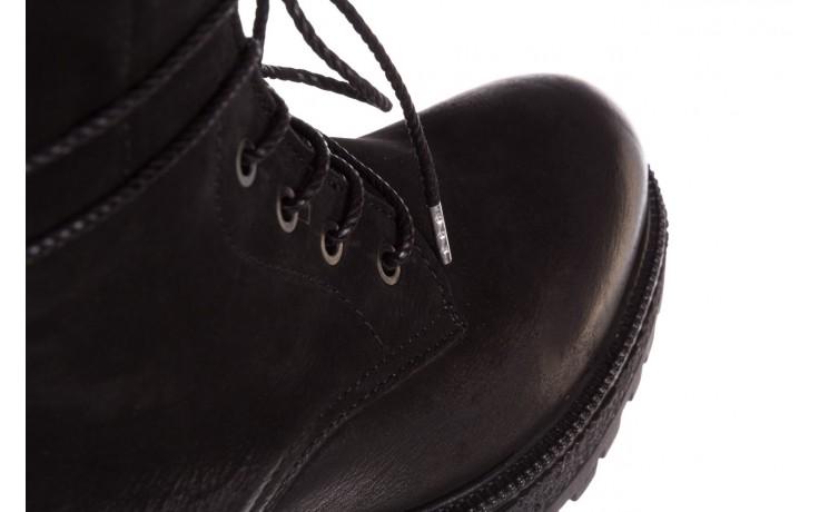 Trzewiki bayla-161 050-0501 black nubuck, czarny, skóra naturalna 7